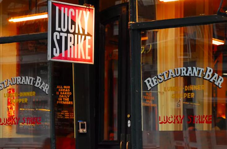 chiusure a New York - Lucky Strike