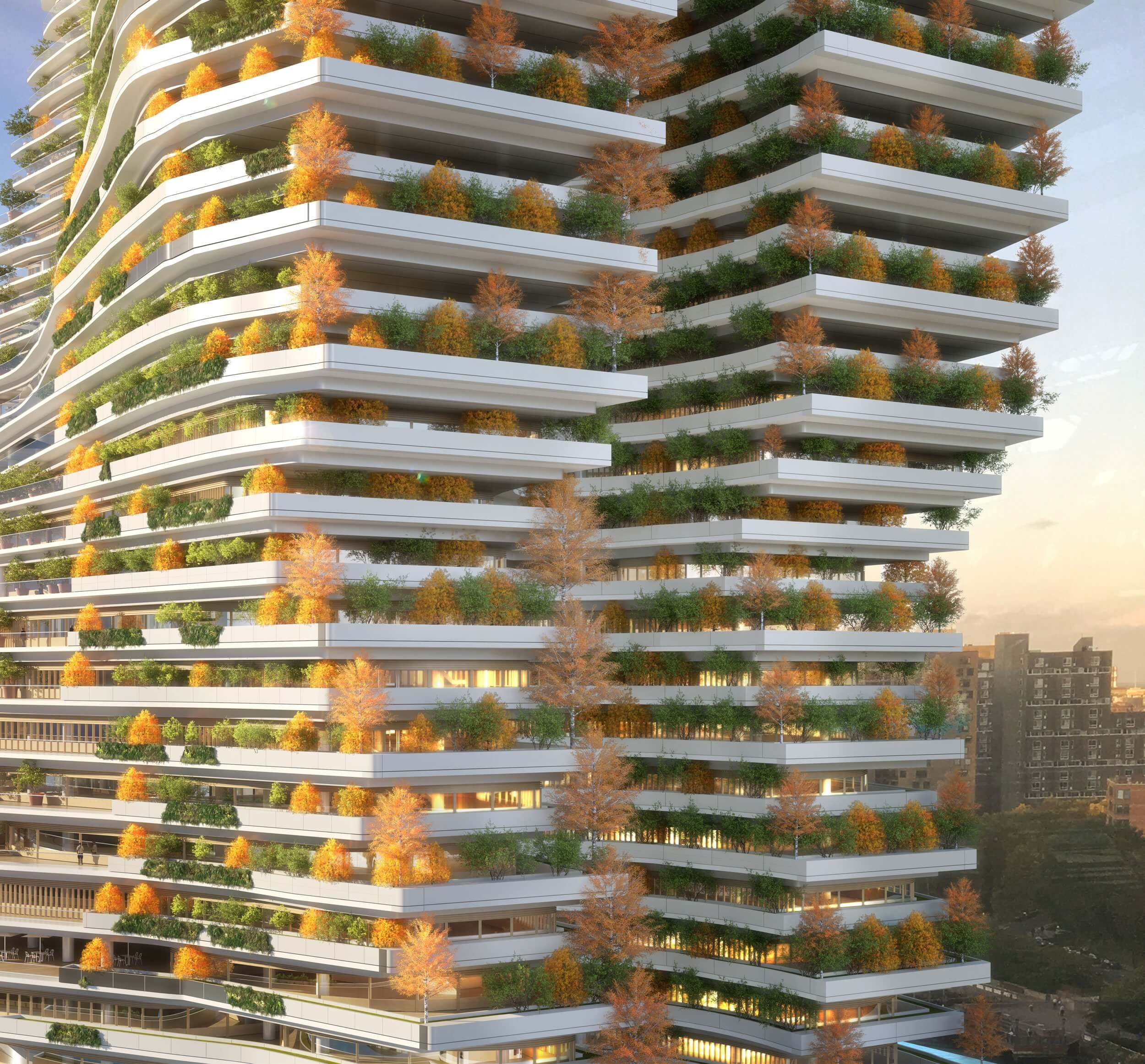 palazzo futuristico a Roosevelt Island