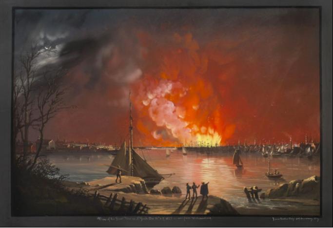 il grande incendio di New York del 1835 New York Historical Society