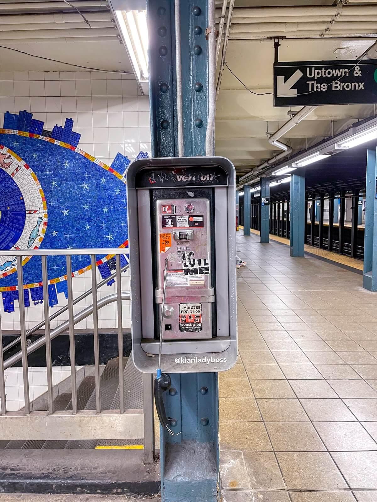 i cartelli della metropolitana a New York