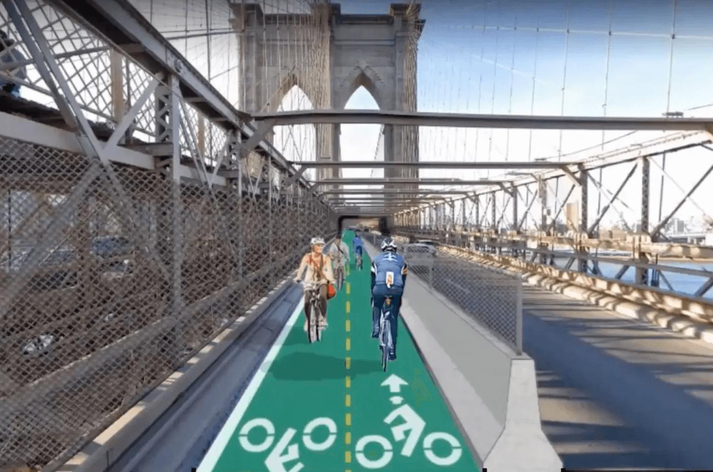 New York in bicicletta: nuova pista ciclabile sul ponte di Brooklyn