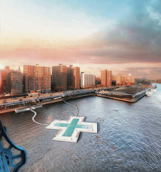 Nuove aperture a New York: il progetto + POOL la prima piscina galleggiante
